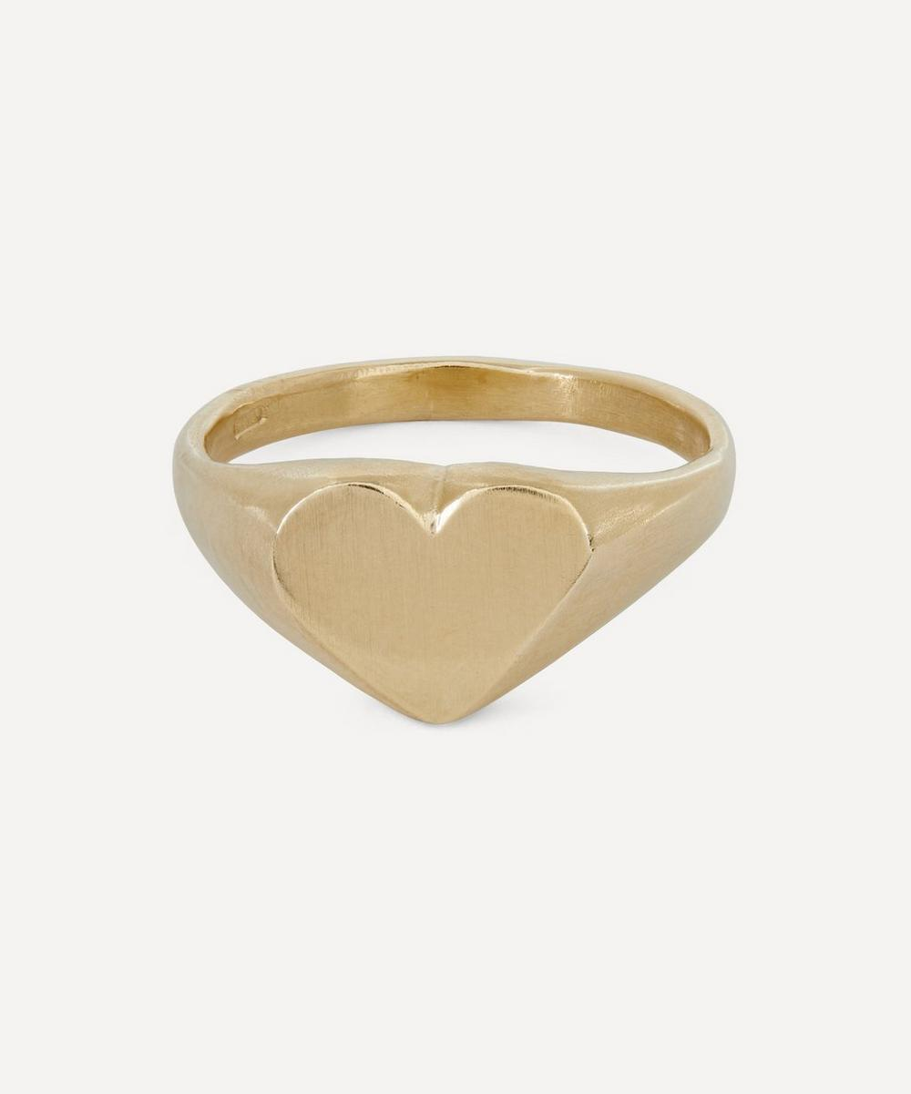 Seb Brown - Gold Heart-Shaped Signet Ring