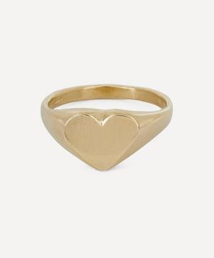 Gold Heart-Shaped Signet Ring