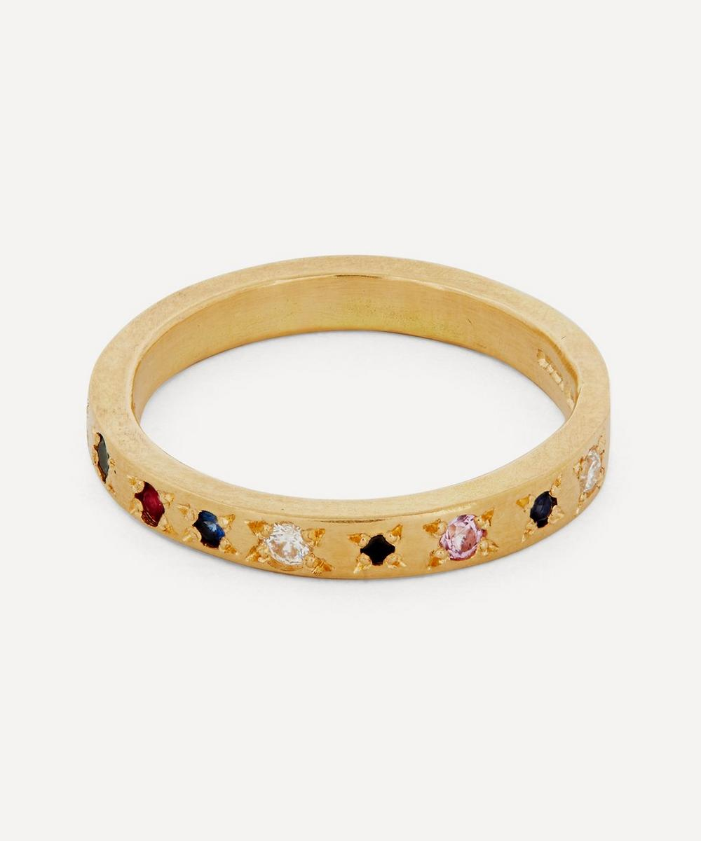 Seb Brown - Gold Neapolitan Multi-Stone Medium Band Ring