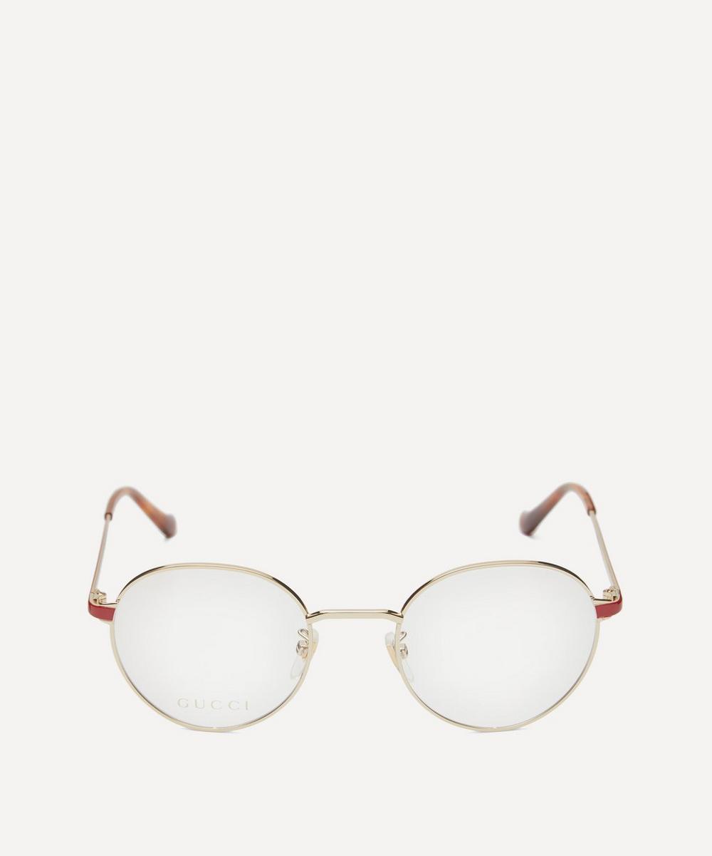 Gucci - Round Gold-Tone Metal Optical Glasses