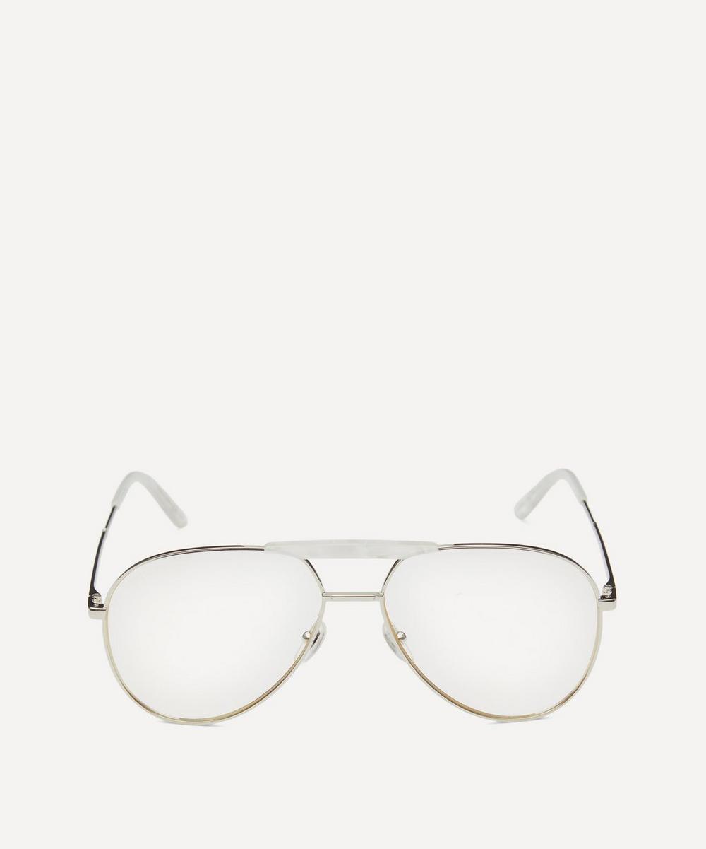 Gucci - Aviator Silver-Tone Metal Optical Glasses
