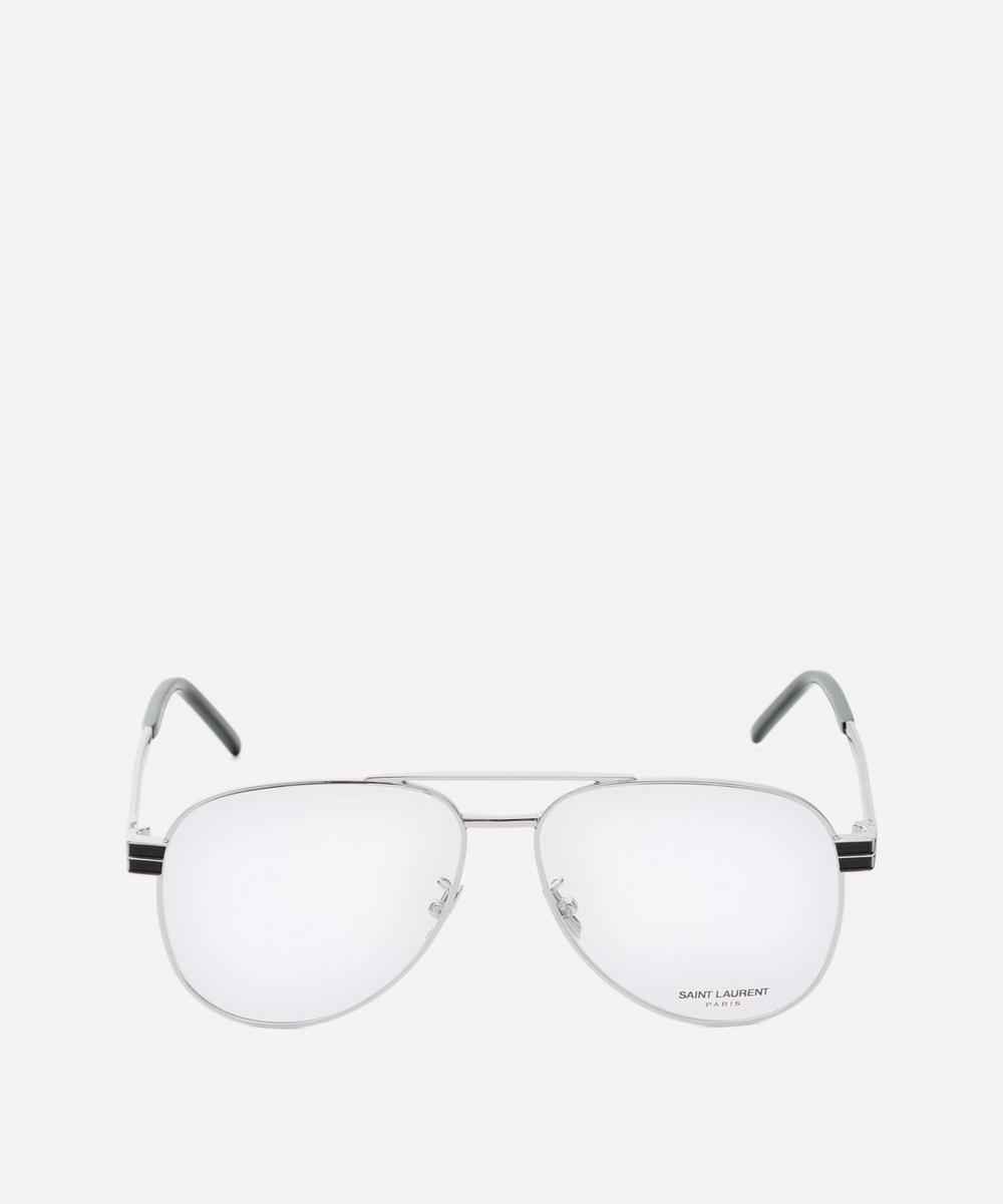 Saint Laurent - Aviator Metal Optical Glasses