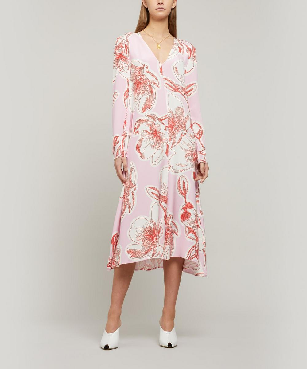 Stine Goya - Miri Floral Silk Midi-Dress