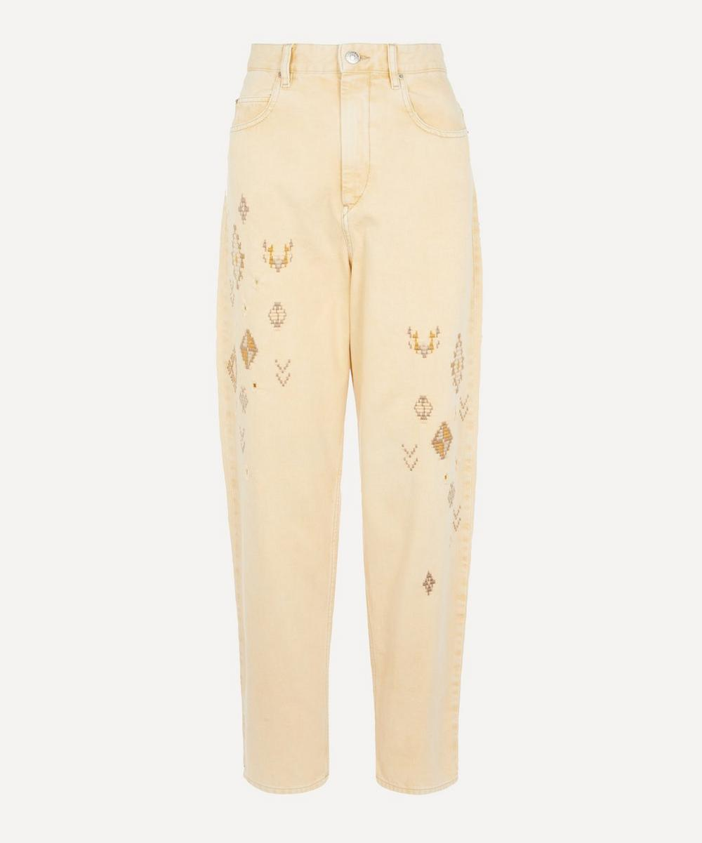 Isabel Marant Étoile - Corsy Embroidered Straight-Leg Jeans