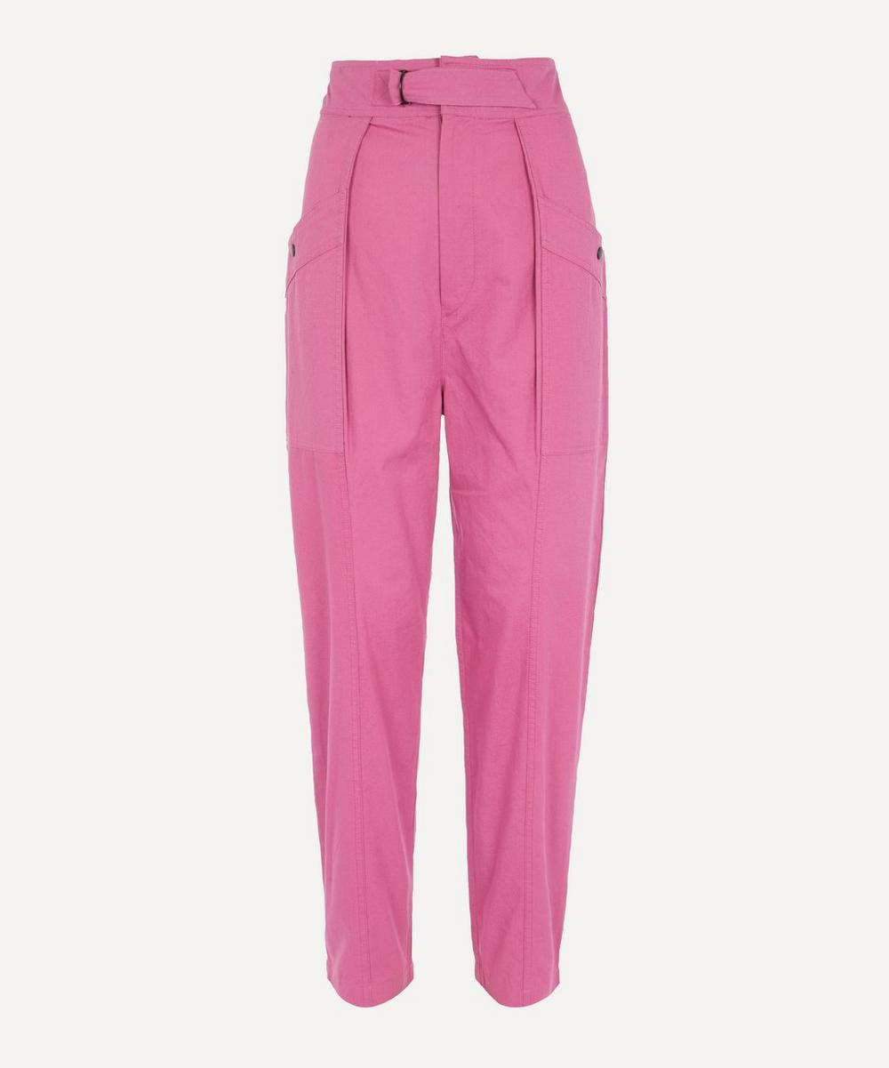 Isabel Marant Étoile - Zilyae High-Waist Cotton Trousers