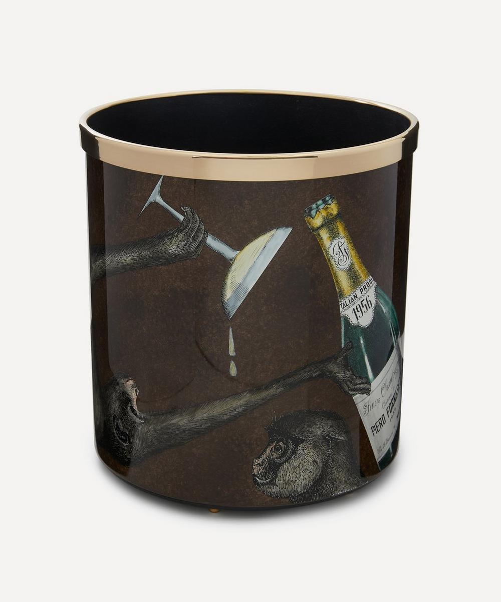 Fornasetti - Scimmie & Co Paper Basket