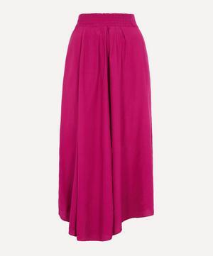 Yeba Pleated Silk Midi-Skirt