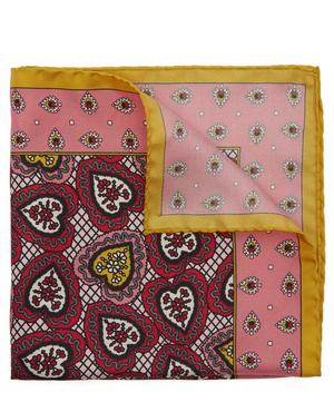 Love Lace Printed Silk Pocket Square