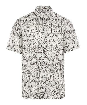 May Linen-Blend Short-Sleeved Lasenby Shirt