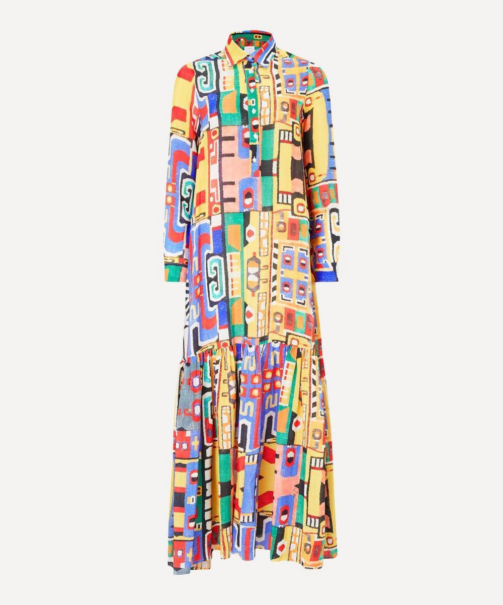 Stella Jean - Printed Silk Maxi-Dress
