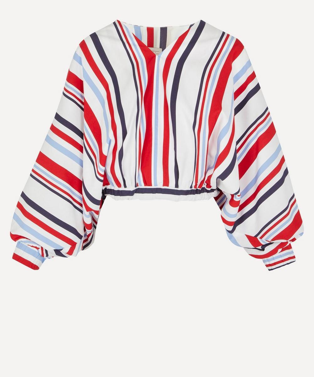Stella Jean - Stripe V-Neck Blouse