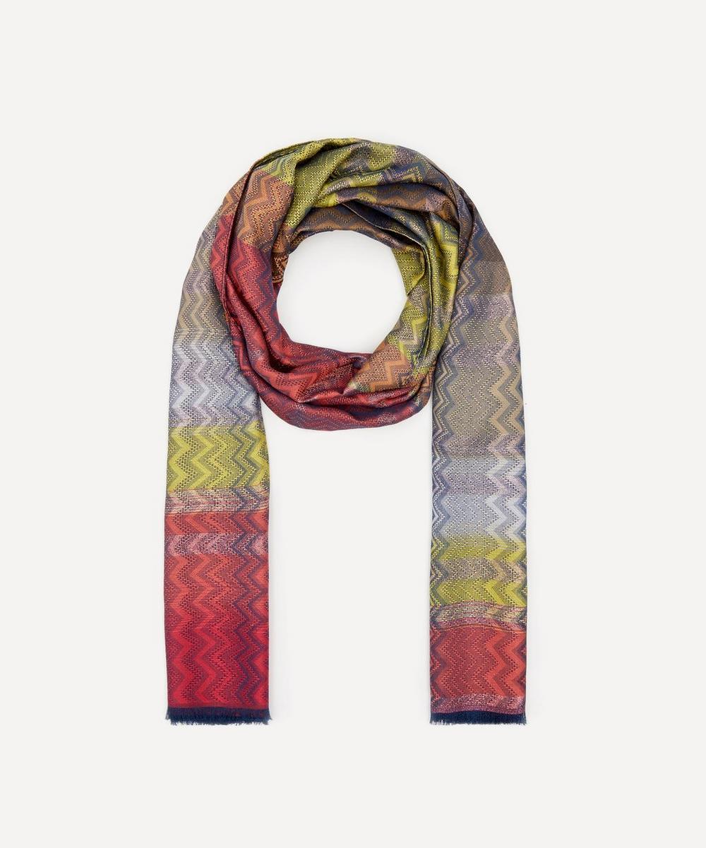 Missoni - Subtle Zig-Zag Stripe Silk-Blend Scarf