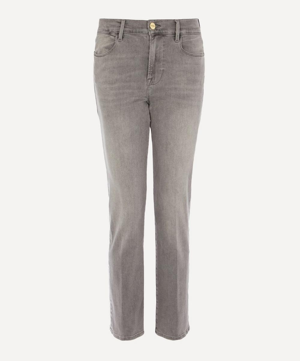Frame - Le High Straight Foil Tux Jeans