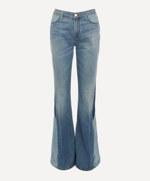 Le High Flare Diagonal Block Jeans