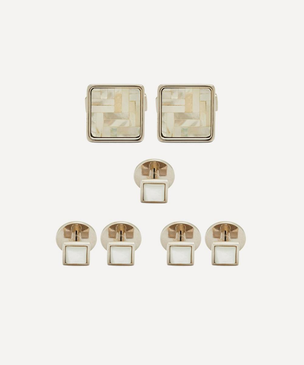 Simon Carter - Mother-Of-Pearl Dress Stud and Cufflink Set