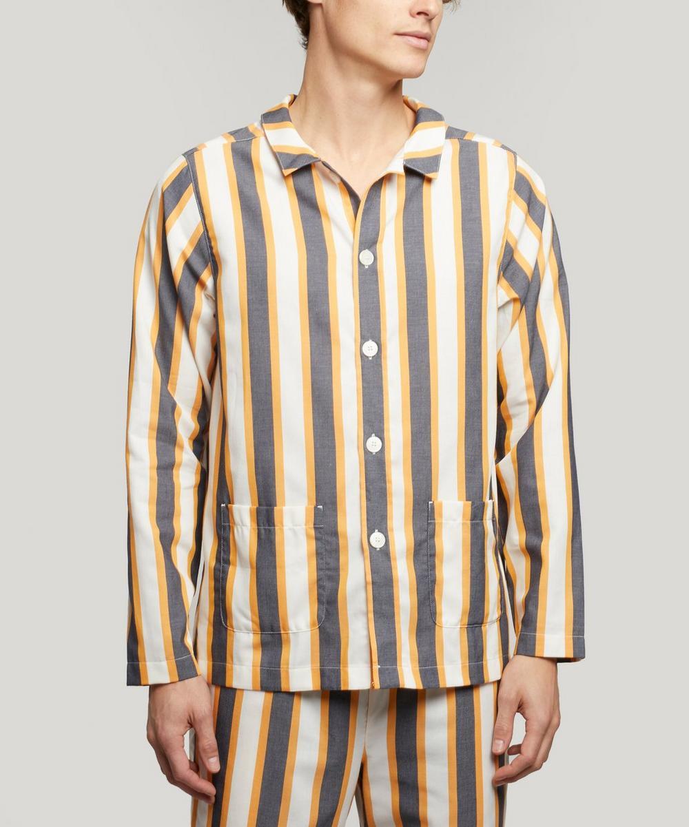 Nufferton - Uno Triple Striped Cotton-Twill Pyjamas