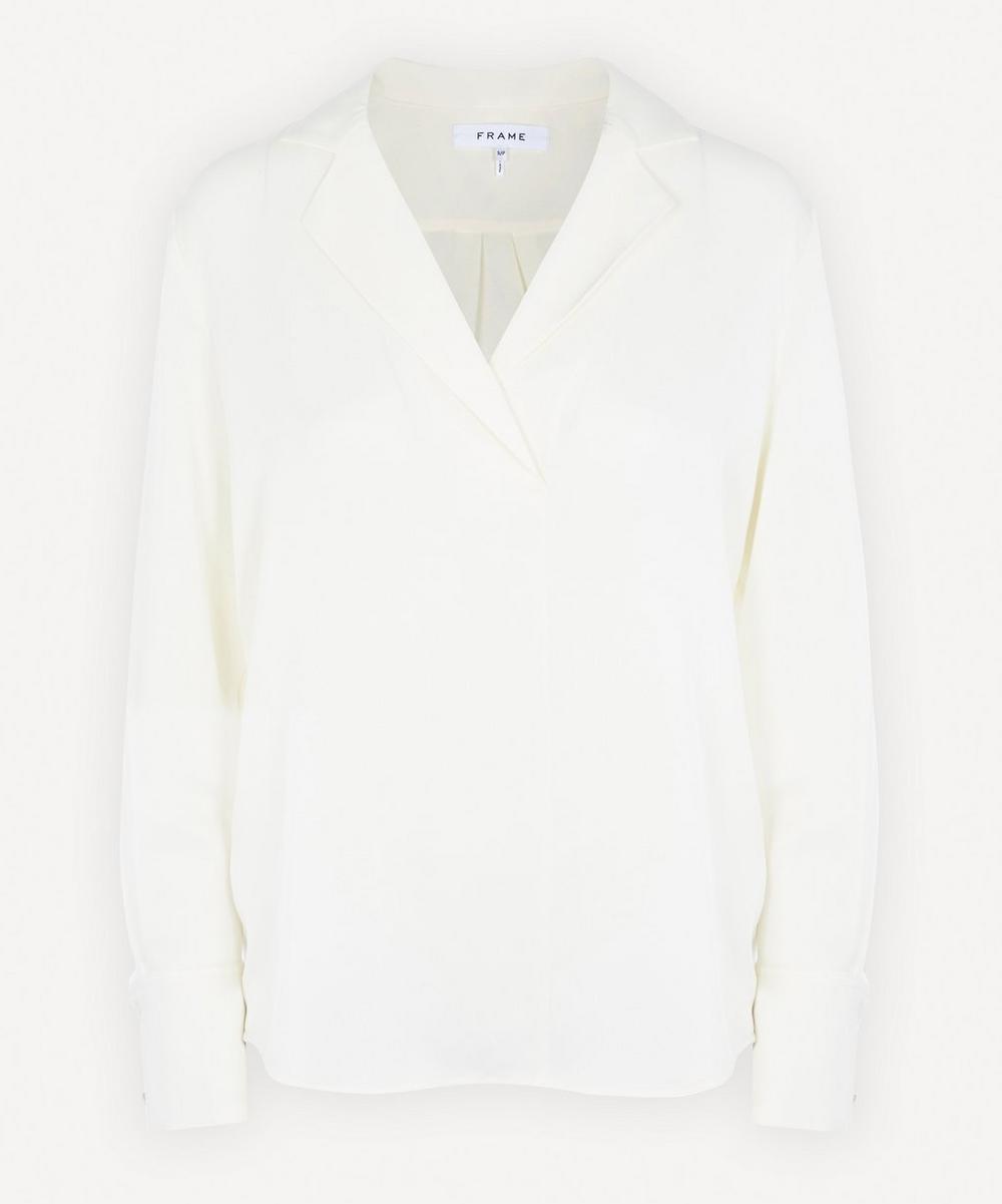 Frame - Notched Collar Silk Shirt