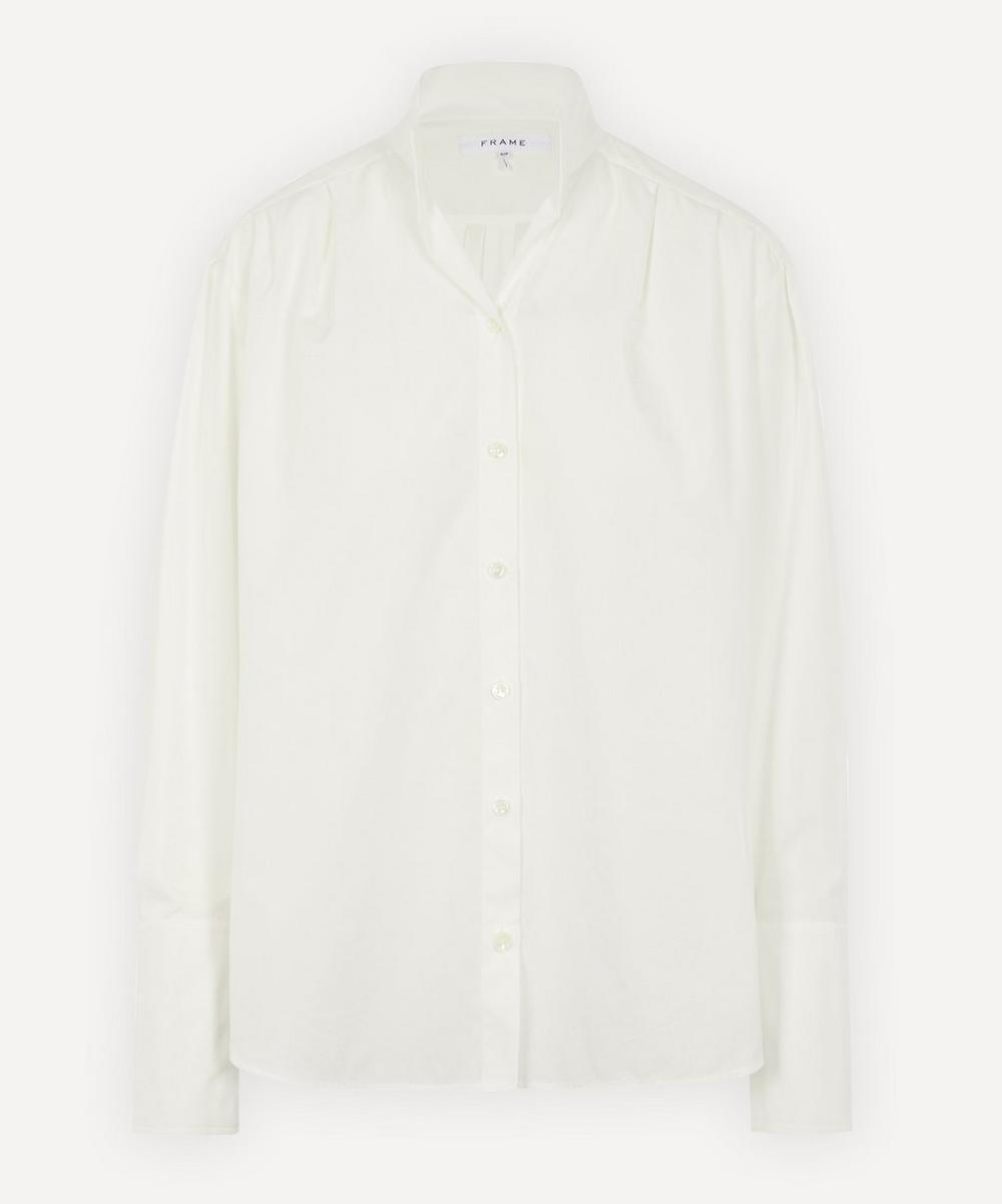 Frame - Pleated Clean Collar Shirt