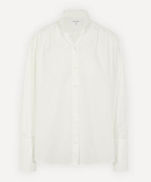 Pleated Clean Collar Shirt