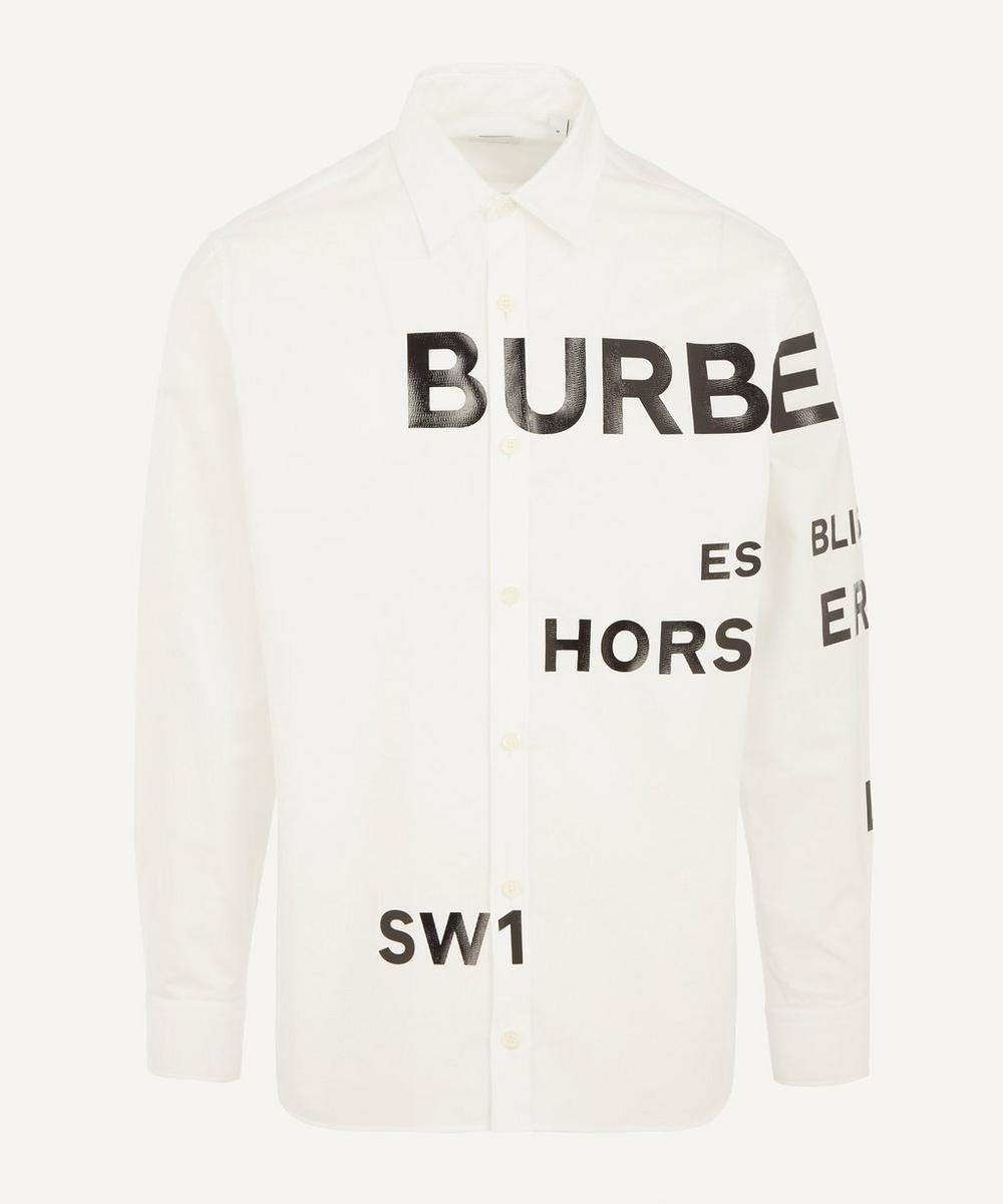 Burberry - Horseferry Print Cotton Oxford Shirt