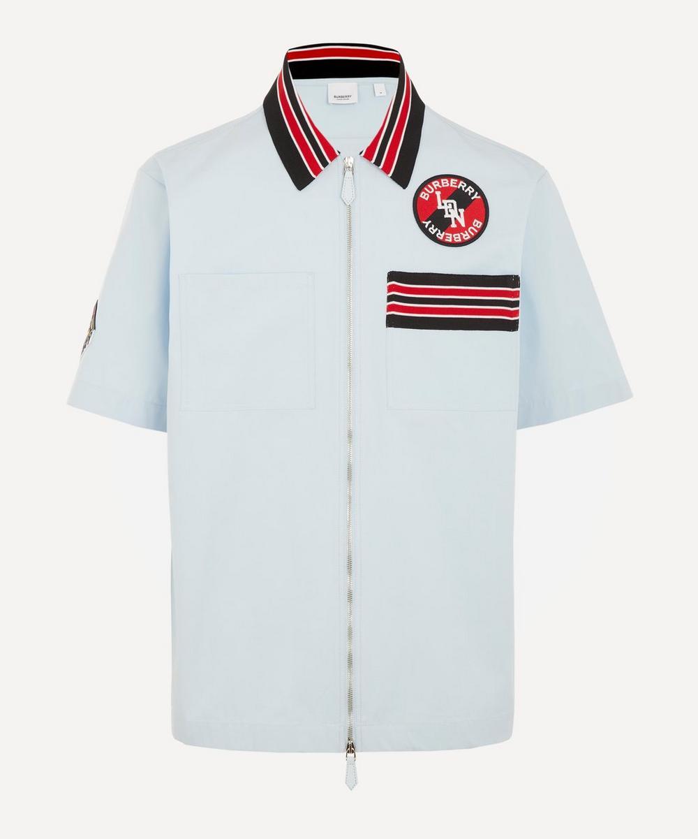 Burberry - Logo Graphic Patchwork Short-Sleeve Cotton Shirt