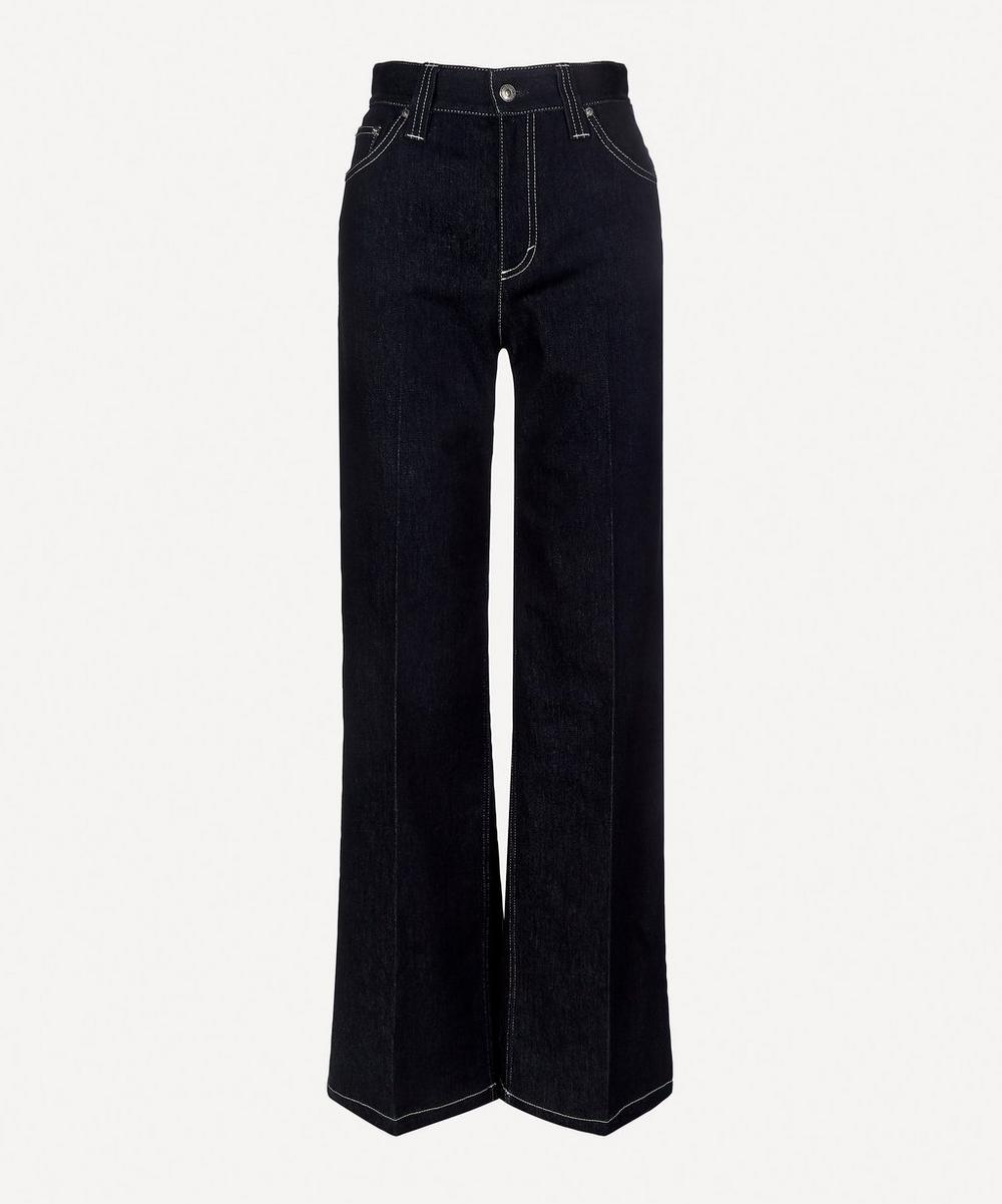 Chloé - High-Waist Recycled Denim Flared Jeans