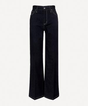 High-Waist Recycled Denim Flared Jeans