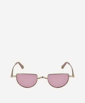 Ayla Half-Moon Metal Sunglasses