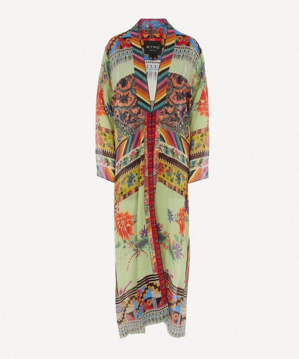 Etro - Iris Patchwork-Print Kimono