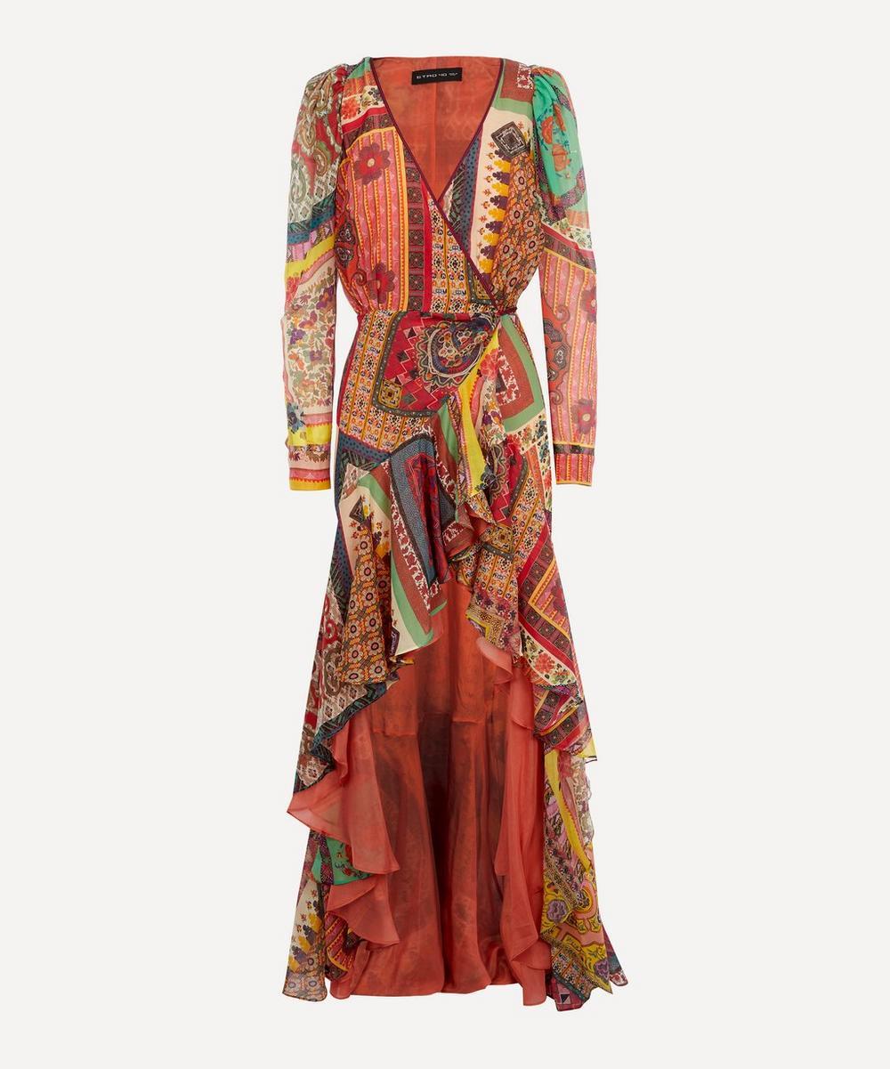 Etro - Patchwork Wrap Dress