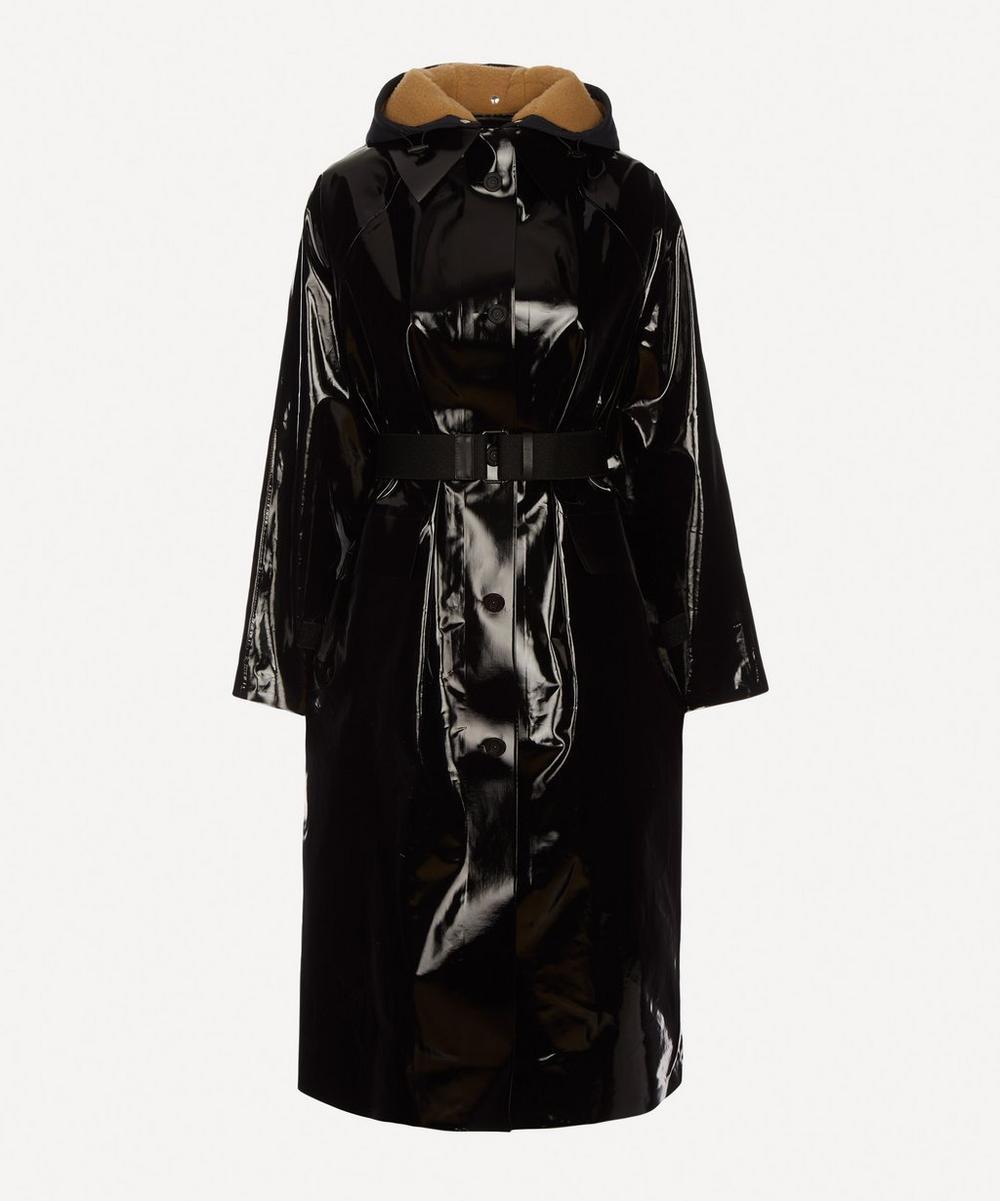 KASSL Editions - Sheepskin Hood Lacquered Coat