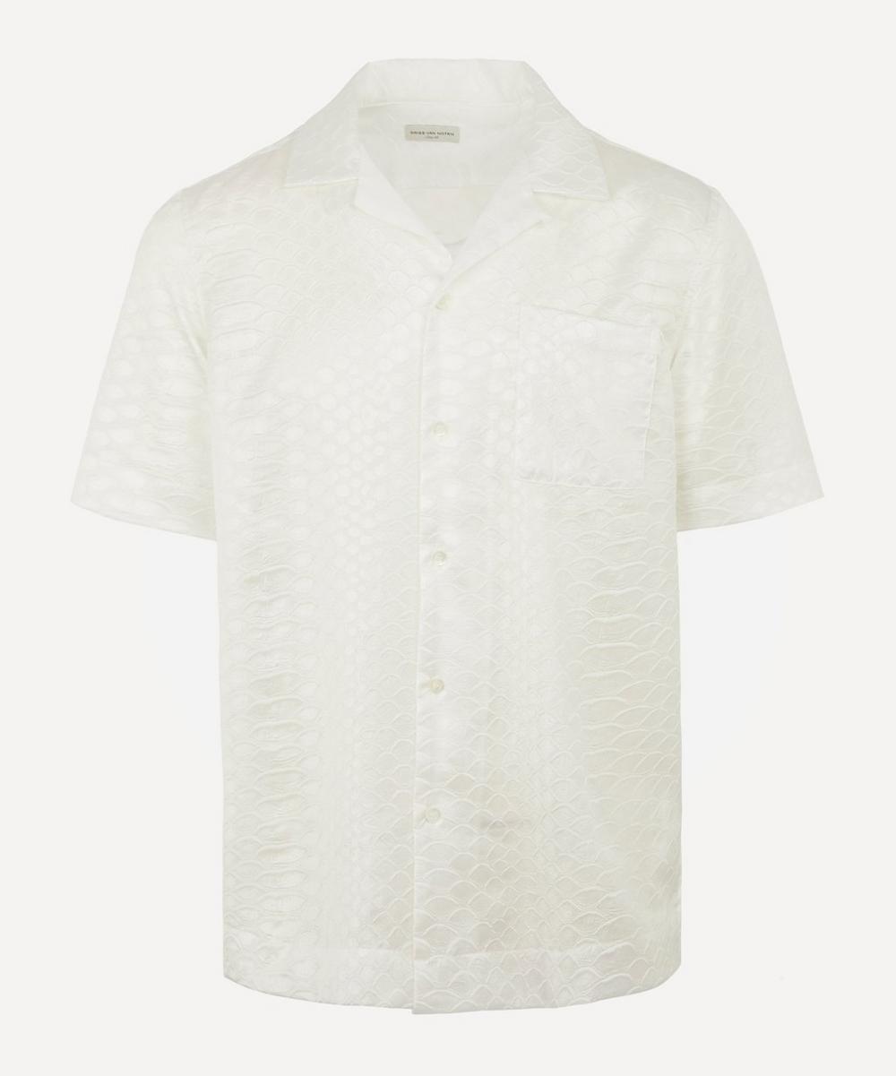 Dries Van Noten - Snake Embossed Open-Collar Shirt