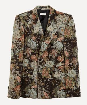 All-Over Flower Print Blazer Jacket