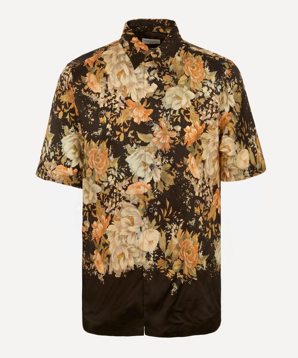 Dries Van Noten - Floral Open-Collar Shirt