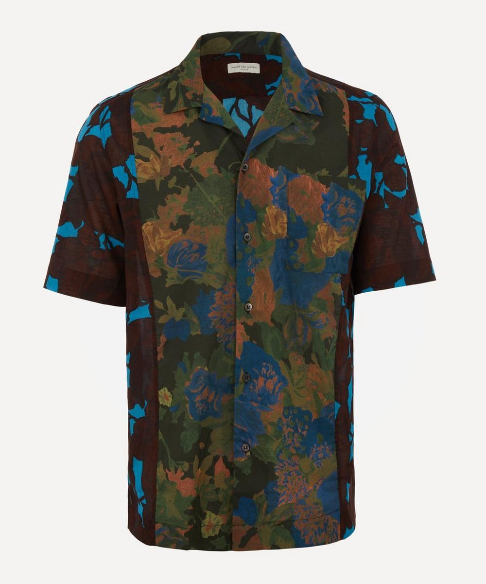 Dries Van Noten - Contrast Print Open-Collar Shirt