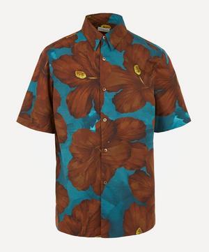 Hibiscus Cotton Short-Sleeve Shirt