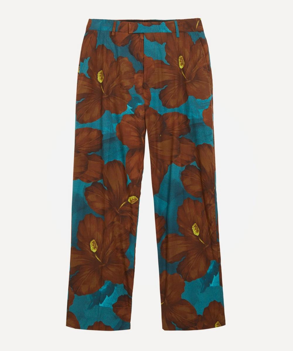 Dries Van Noten - Hibiscus Straight-Leg Cotton Trousers