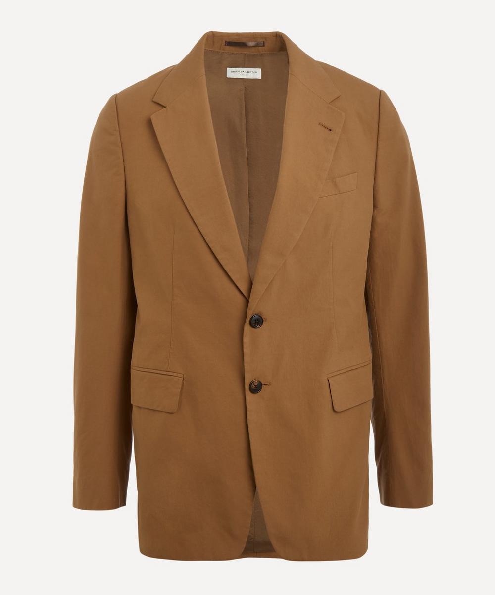 Dries Van Noten - Single-Breasted Cotton Blazer Jacket