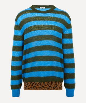 Stripe Leopard Hem Jumper