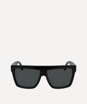 D-Frame Flat-Top Sunglasses