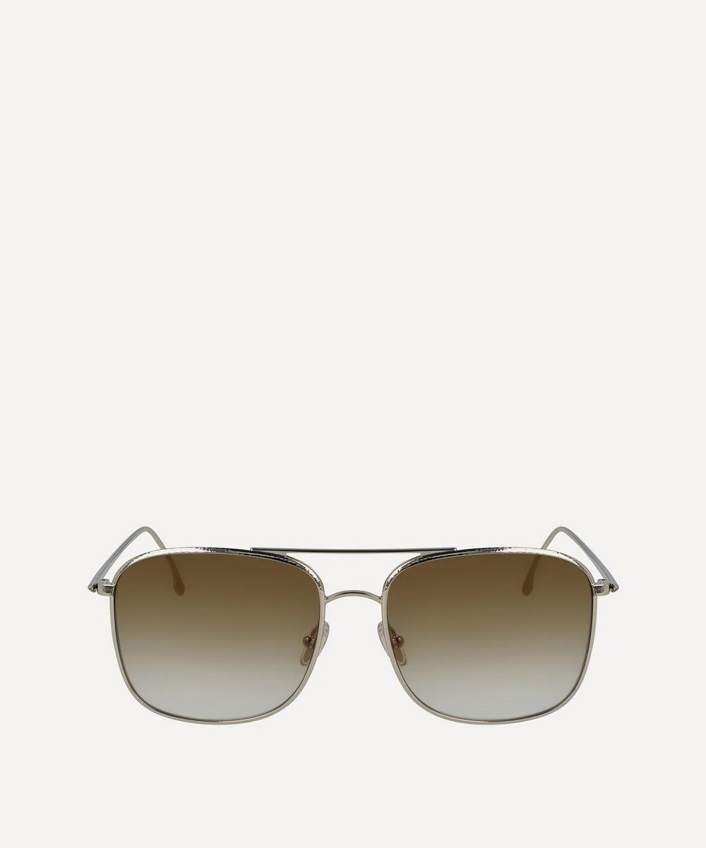 Victoria Beckham - Hammered Square Aviator Sunglasses