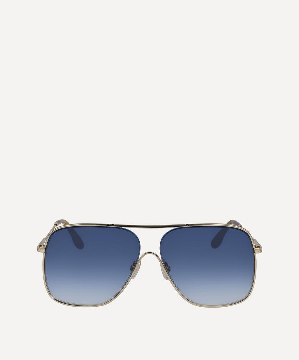 Victoria Beckham - Loop Squared Half-Rim Aviator Sunglasses
