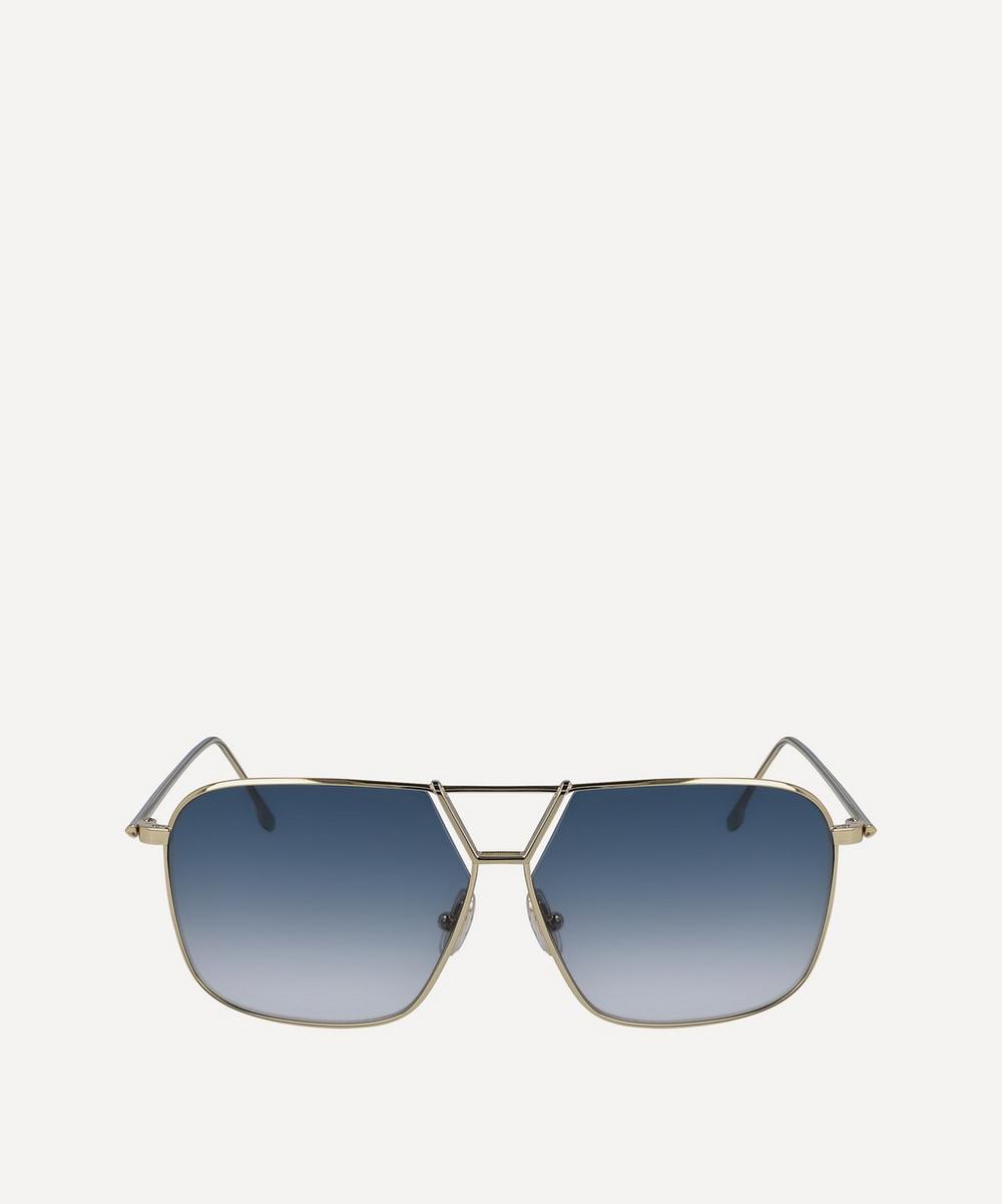 Victoria Beckham - Double Bridge Metal Navigator Sunglasses