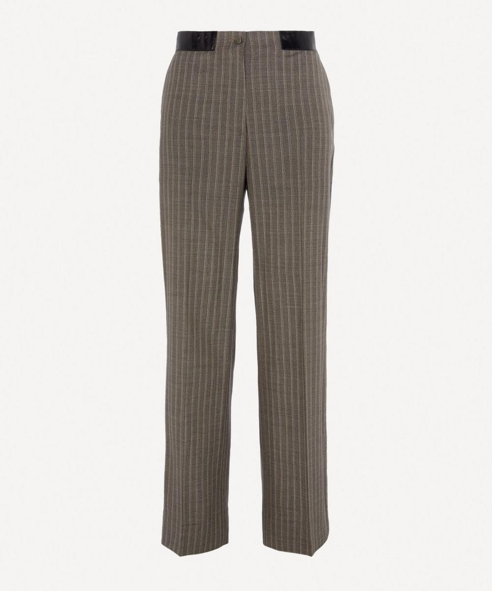 Our Legacy - Pinstripe Cross Over Wool Trousers