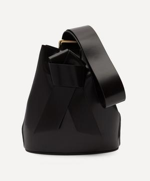 Knotted Leather Bucket Bag