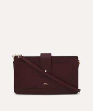 Albane Leather Clutch Bag