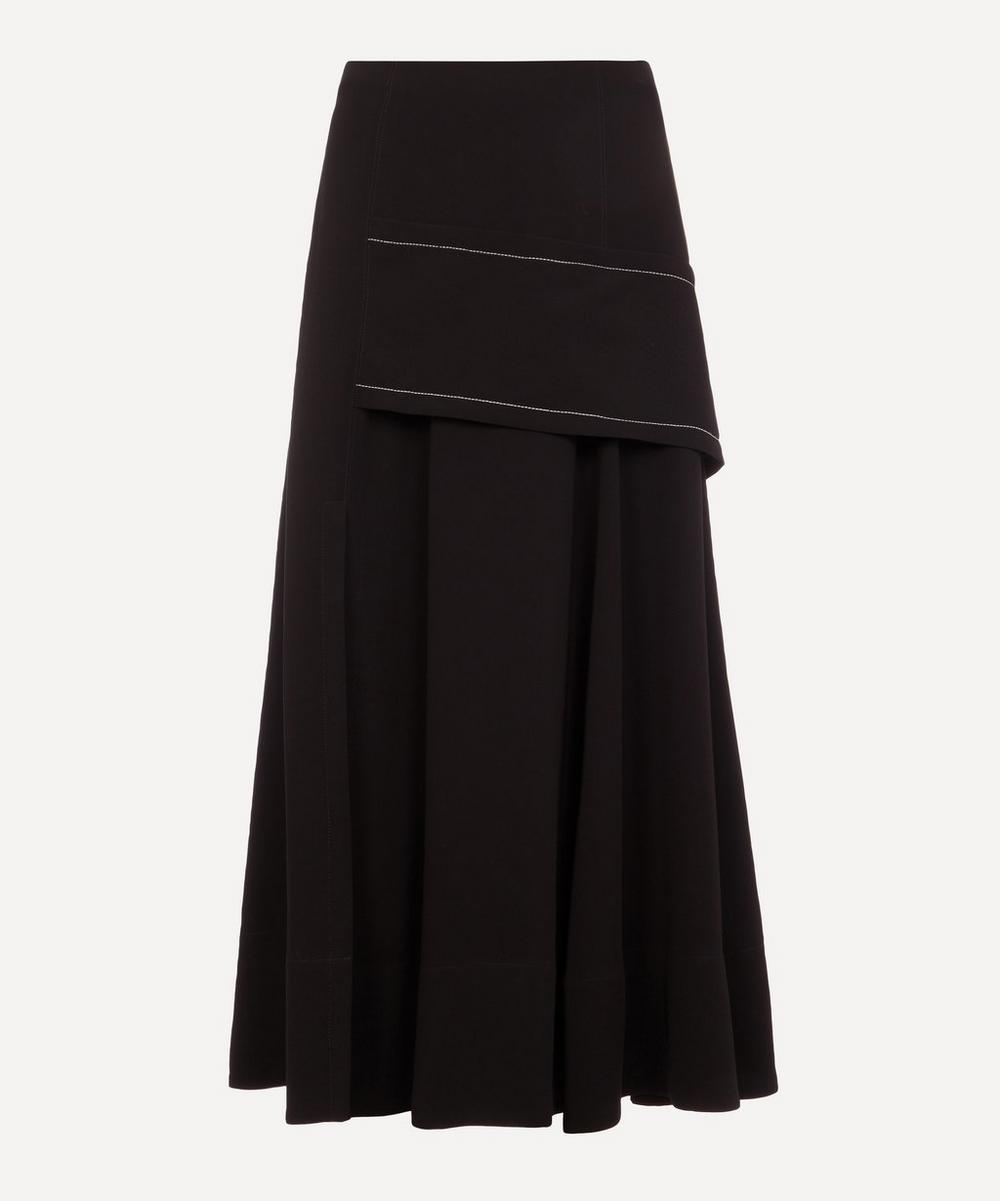 3.1 Phillip Lim - A-Line Crepe Midi-Skirt