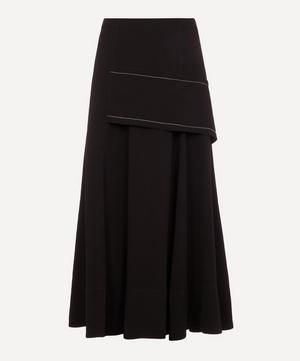 A-Line Crepe Midi-Skirt