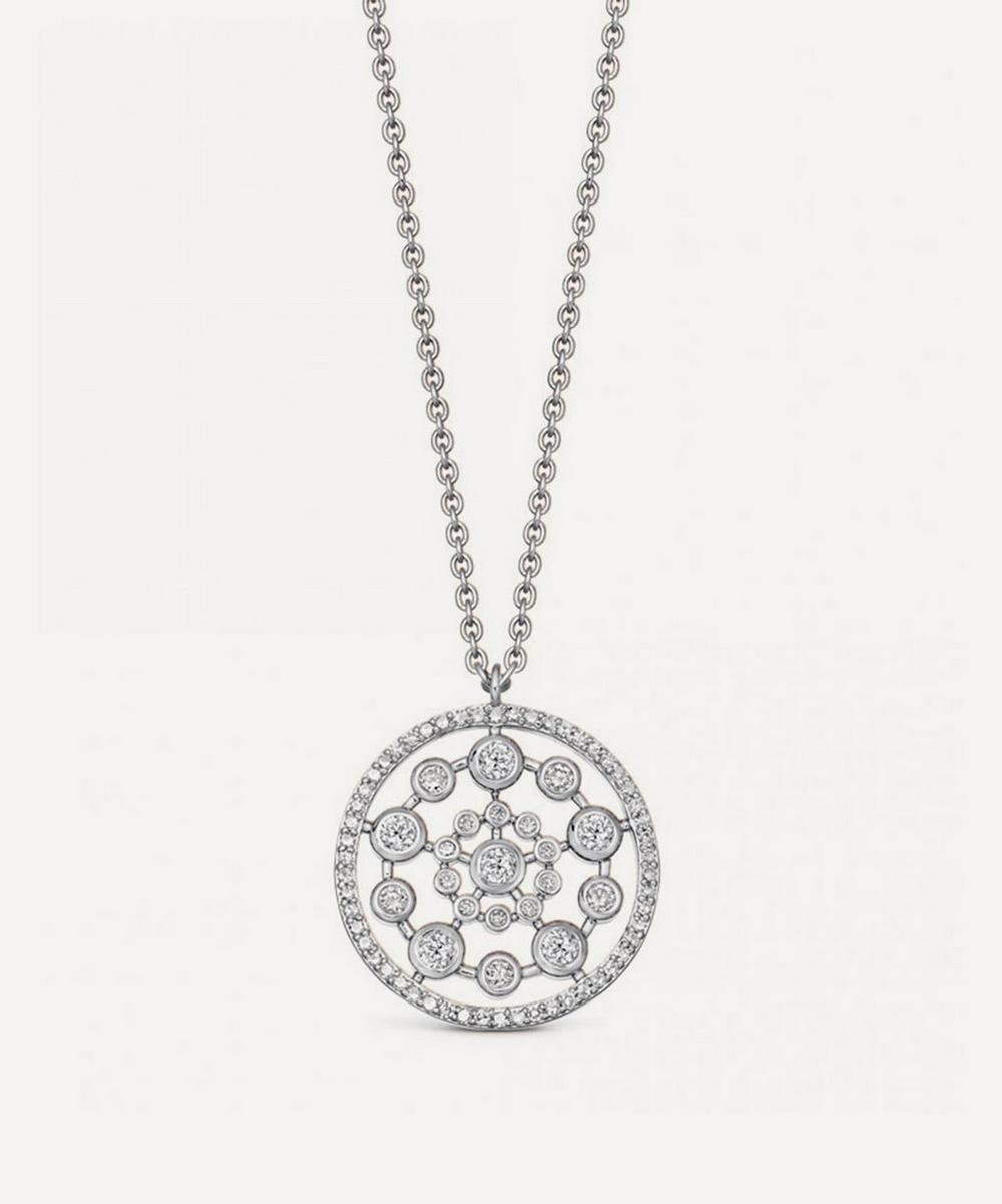 Astley Clarke - White Gold Medium Icon Nova Diamond Pendant Necklace