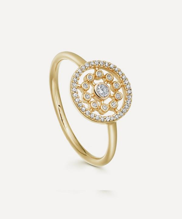 Astley Clarke - Gold Medium Icon Nova Diamond Ring